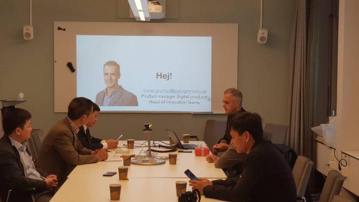 Đoàn cán bộ của Trung tâm trao đổi kỹ thuật với Đài Quốc gia Thụy Điển (SverigeSRadio)