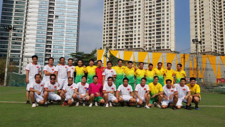 Giao hữu bóng đá giữa trung tâm KTPTTH và Đài PT Quốc gia Lào